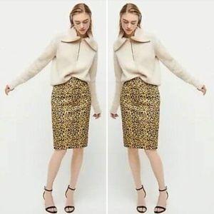 NWT J. Crew No. 2 Pencil® Skirt in Leopard Print